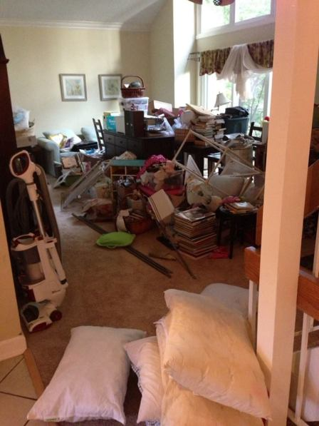 "Quoth the husband, without irony: ""Yeah, it shouldn't take long at all to get the house back in order."""