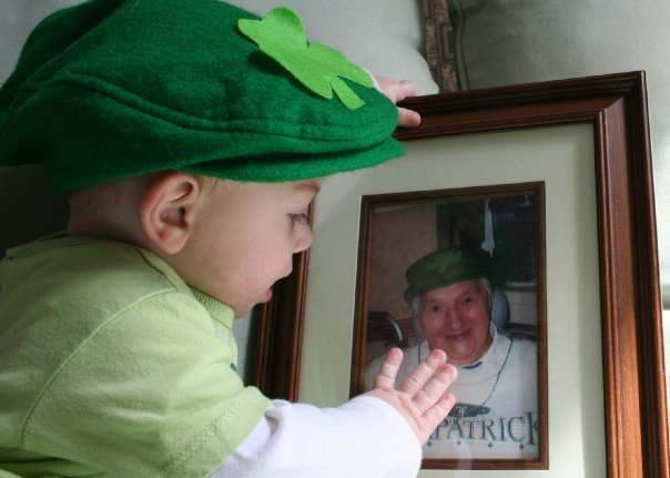 My little leprechaun, on her first St. Paddy's Day.